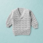 ALFRED, merino wool baby pullover, light grey