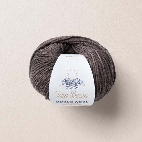 Van Beren Merino Wool, dark brown, EXP