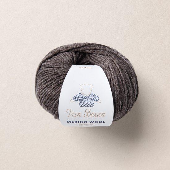 Van Beren Merino Wool, dark brown, EXP