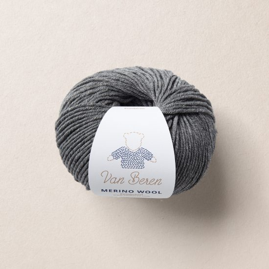 Van Beren Merino wool, EXP, dark grey