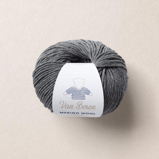 Van Beren Merino wool, EXP, dunkelgrau, dark grey