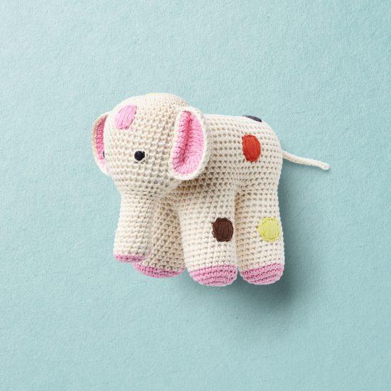 anne-claire petit elephant, crochet toys