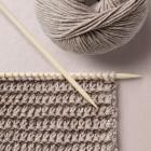 Herringbone Pattern Wool School, Happy Knitting
