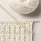 Shell knit pattern, 2 WOOL SCHOOL HAPPY KNITTING
