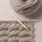 Wavy Stitch Knit Pattern Wool School, Happy Knitting