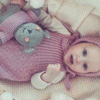 Van Beren Babystrickstrampler WENDY, Merinowolle