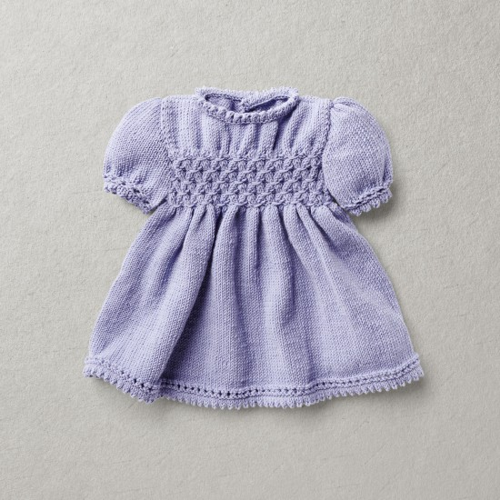 Merino wool Van Beren baby knit dress ELEANORE, purple