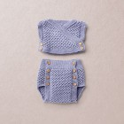 Meriono wool Van Beren baby knit set CORINNA, purple