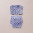 Merino wool Van Beren baby knit set CORINNA, purple