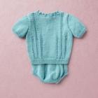 Merino Wool Van Beren baby knit set EMILY, turquoise