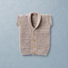 Van Beren knit vest BRIAN, merino wool, beige