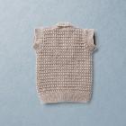 Van Beren merino wool baby knit vest, beige