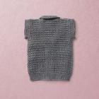 Van Beren merino wool baby knit vest, dark grey