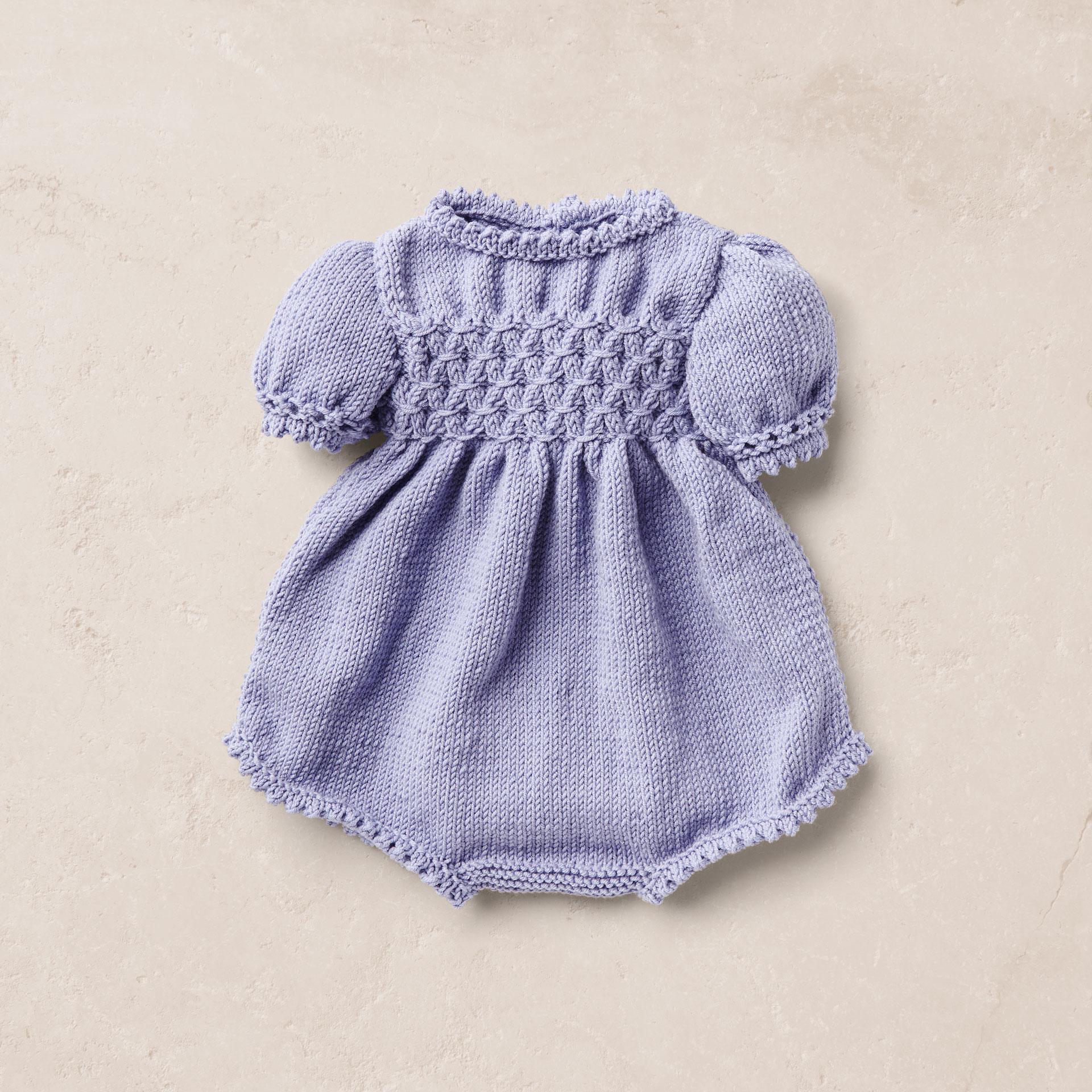 Merino wool Van Beren baby knit romper EERO, purple,