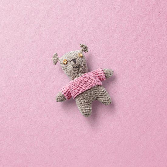 Strickbär, Van Beren Strickbär klein, Merinowolle, beige