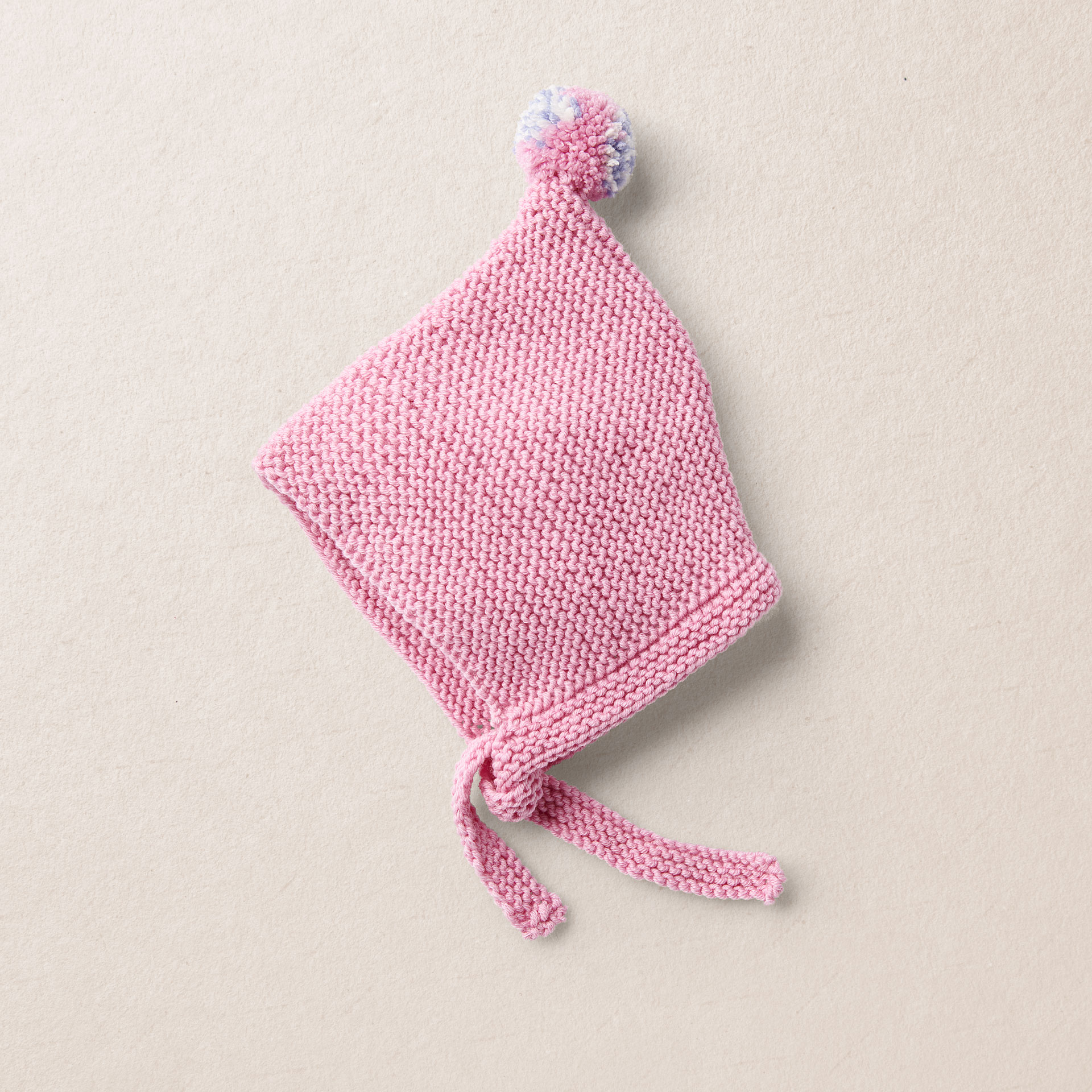 BILLIE merino wool baby knit bonnet, pink