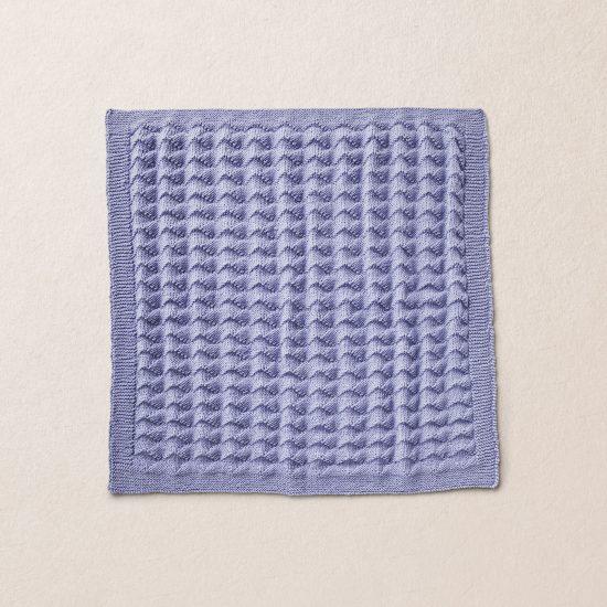 Merino wool Van Beren baby knit blanket LEROY, purple