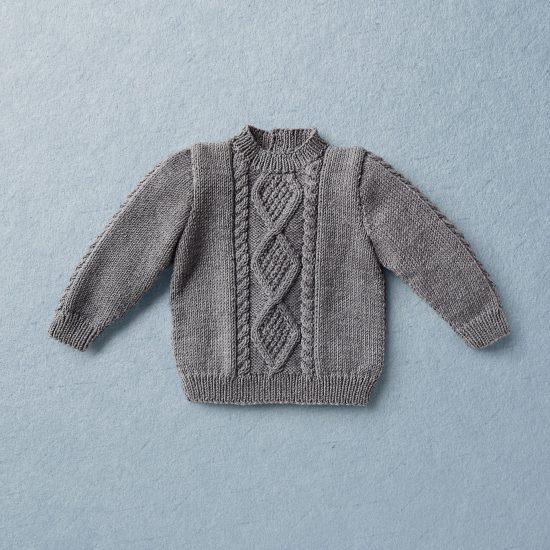 Van Beren Baby Strickpullover und kurze Strickhose SEBASTIAN, Merinowolle