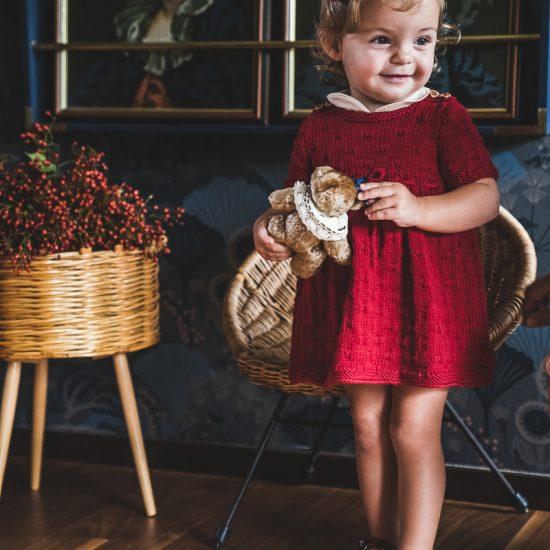 Vintage style inspired Van Beren baby knit dress LIV, handmade in Austria, merino wool, eco consciouis clothes, baby present, baby shower, baby belly party, hand knitted, fairfashion, heirloom, VAN BEREN