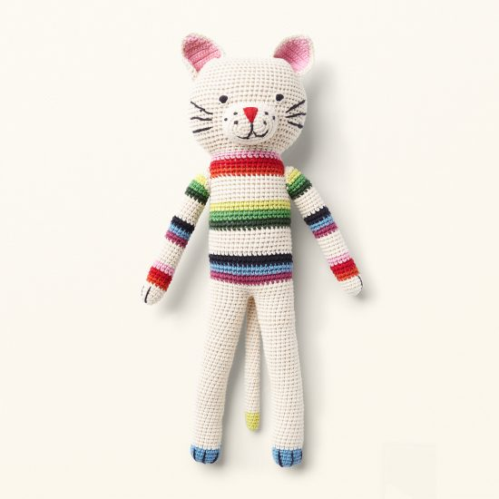 hand crochet toys from ANNE-CLAIRE PETIT, organic cotton, Cat Felix