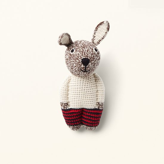 handcrochet rabbit from ANNE-CLAIRE PETIT organic cotton