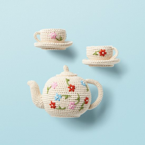 hand crochet tea set from ANNE-CLAIRE PETIT organic cotton
