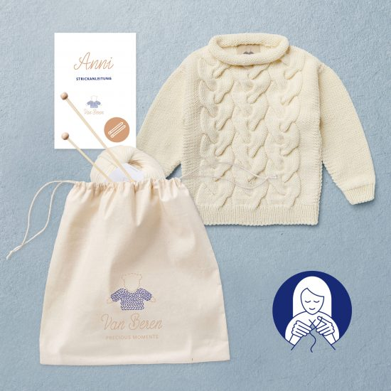 Knit Kit Anni toddler pullover, Woolschool