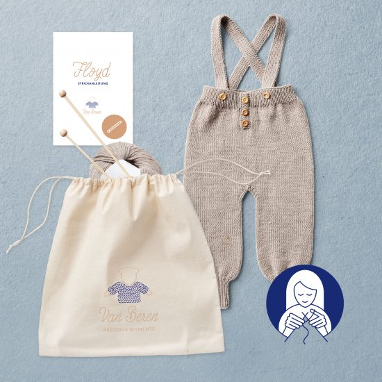 Van Beren Knit Kit baby trousers Floyd