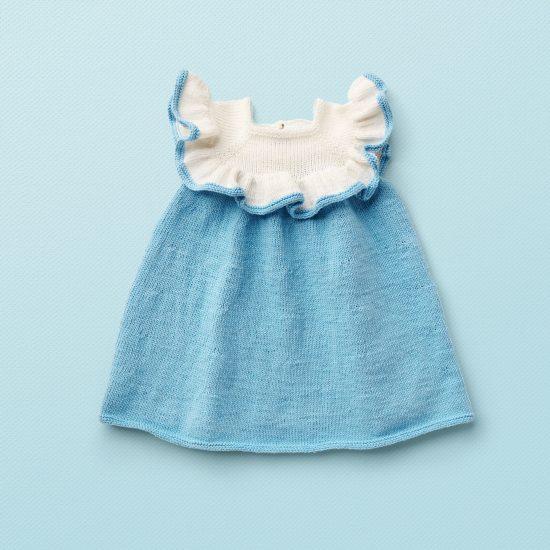 Vintage style inspired knit dress DAISY, organic cotton, hand made in Austria, VAN BEREN