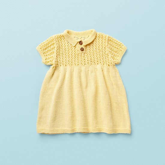 baby knit dress DELILAH, organic cotton, hand made in Austria, VAN BEREN, vintage style inspired knits, high quality, eco-friendly clothing, conscious, baby present, baby shower, baby belly party, hand knitted, fair fashion, sustainable kids wear