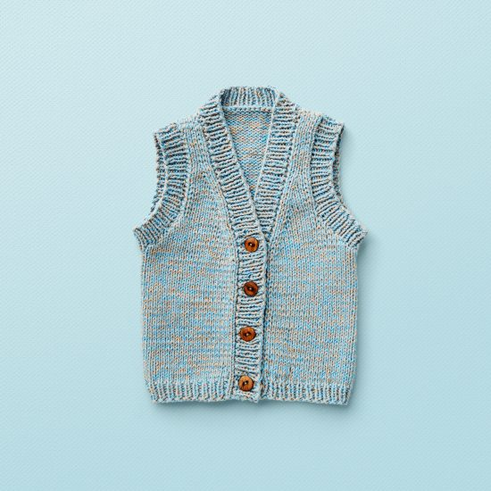 Vintage style inspired knit vest ELIOT, organic cotton, hand made in Austria, VAN BEREN