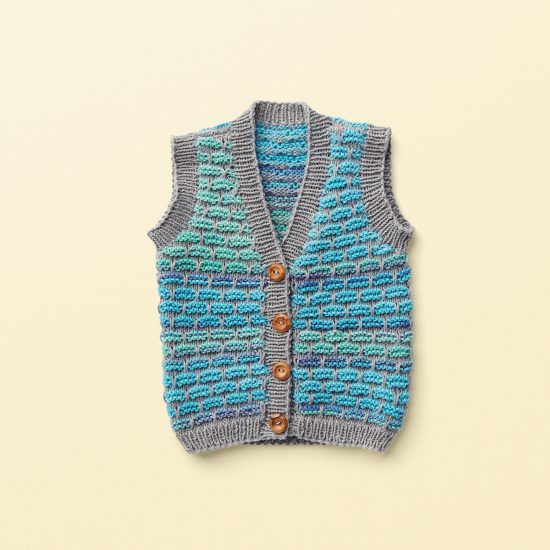 Vintage style inspired knit vest HUGO, organic cotton, hand made in Austria, VAN BEREN