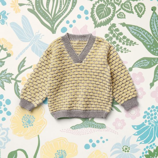 Vintage style inspired knit pullover EARL, organic cotton, hand made in Austria, VAN BEREN