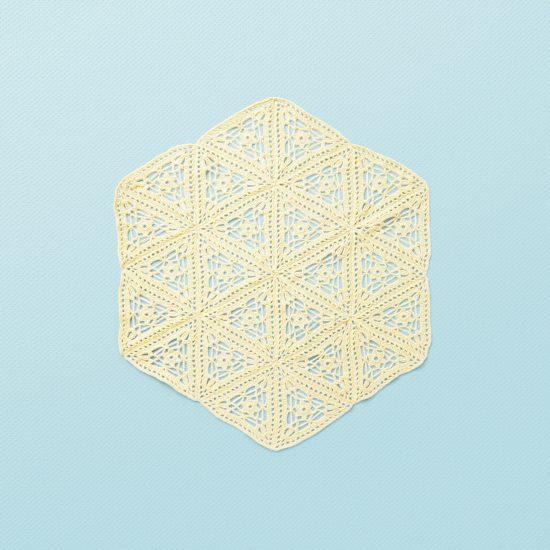 Vintage style inspired baby crochet blanket POPPY, organic cotton, hand made in Austria, VAN BEREN