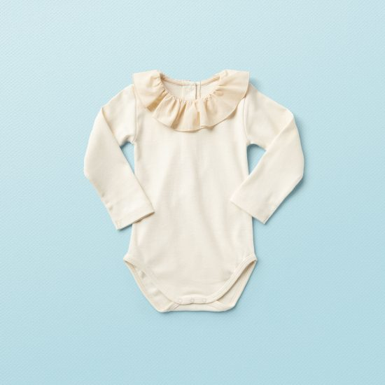 Vintage inspired Van Beren baby onesie LUCY, organic cotton, environmentally friendly, high quality, baby shower, baby belly party, hand knitted, fair fashion, baptism
