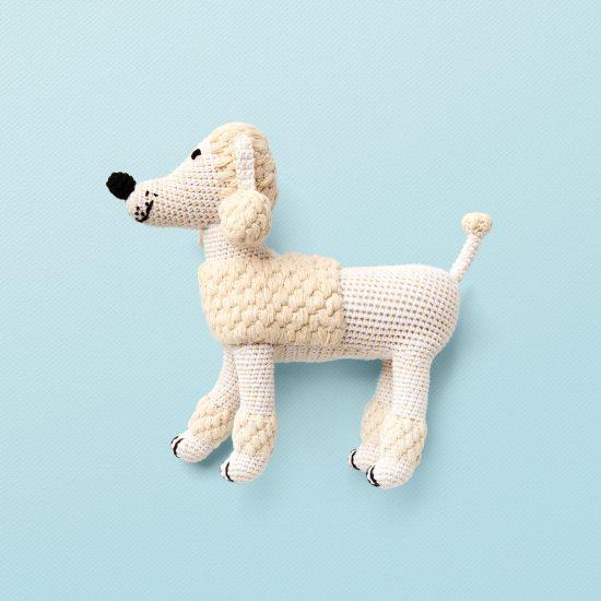 anne-Claire Petit poodle, hand crochet, organic cotton
