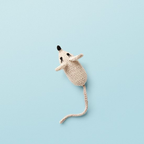 ANNE-CLAIRE PETIT Small Mouse, handcrochet, Organic Cotton