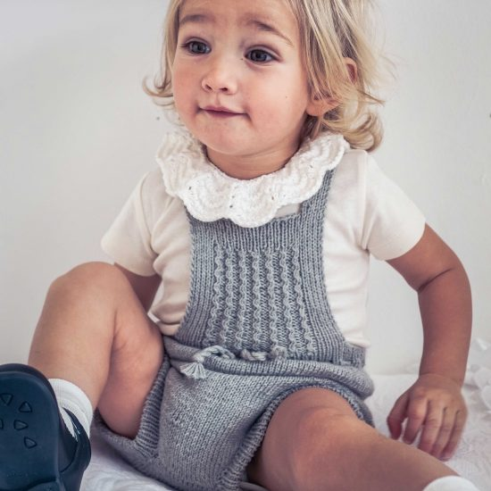 Vintage style inspired knit dungarees JULIA, organic cotton, hand made in Austria, VAN BEREN