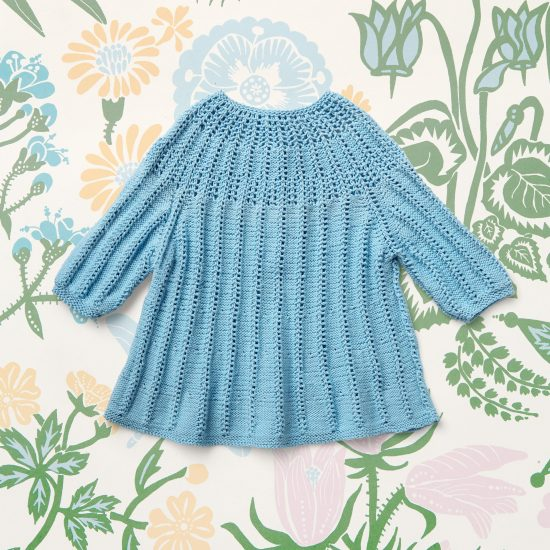 Vintage style inspired knit pullover APPY, organic cotton, hand made in Austria, VAN BEREN