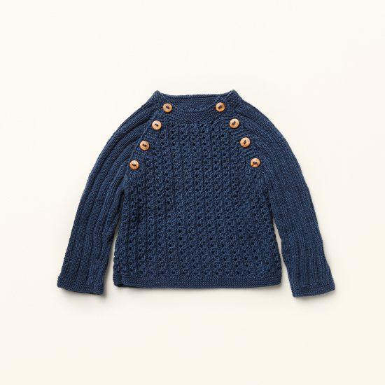 baby knit pullover JACK, organic cotton, hand made in Austria, VAN BEREN