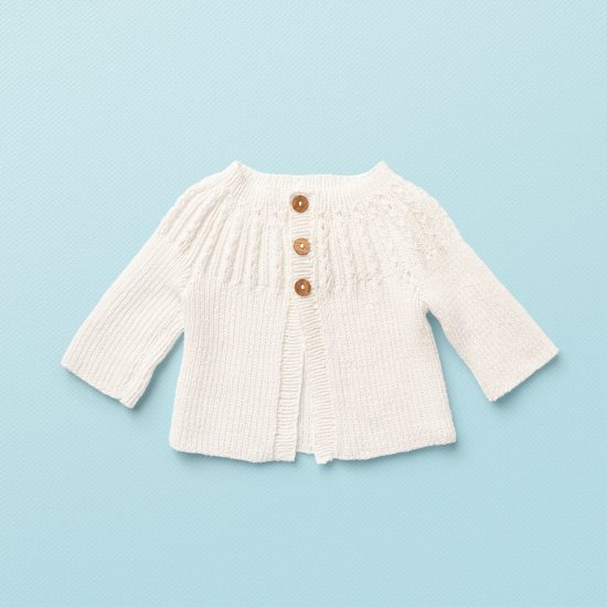 baby knit cardigan JANE, organic cotton, hand made in Austria, VAN BEREN