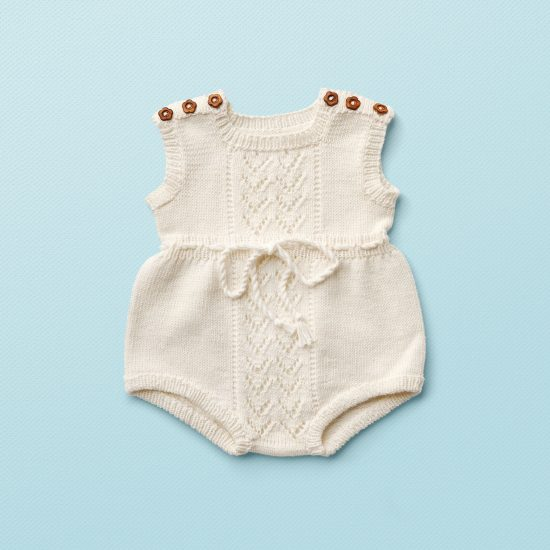 Christening, Taufe, Vintage style inspired knit romper FREDDY, organic cotton, hand made in Austria, VAN BEREN