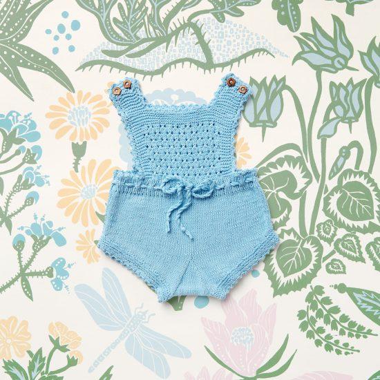 baby knit romper MARTHA, organic cotton, hand made in Austria, VAN BEREN