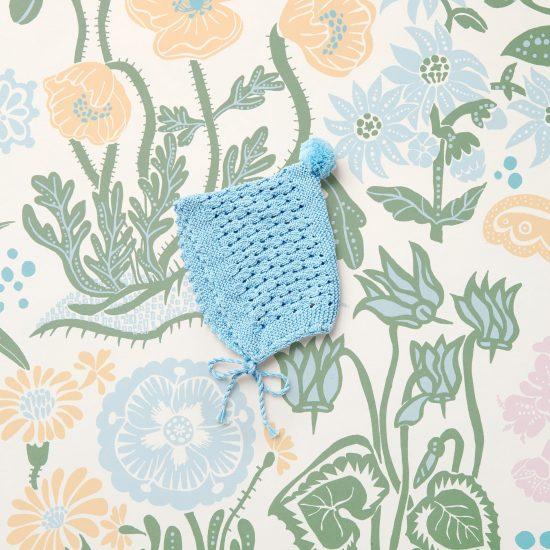 baby knit bonnet et MARTHA, organic cotton, hand made in Austria, VAN BEREN