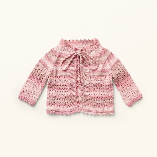 baby knit cardigan MARTHA, organic cotton, hand made in Austria, VAN BEREN