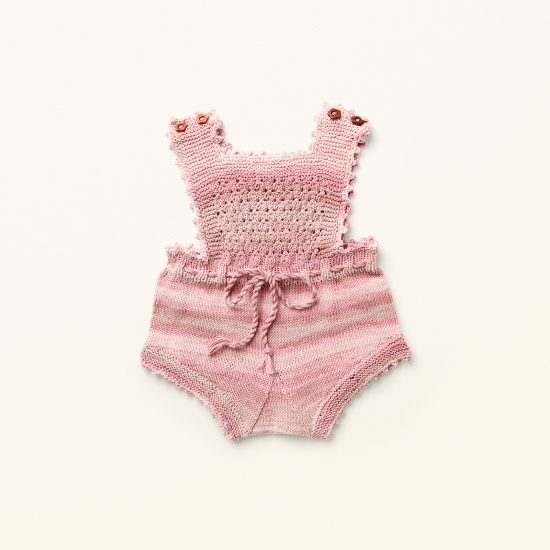 baby knit romper MARTHA, organic cotton, hand made in Austria, VAN BEREN