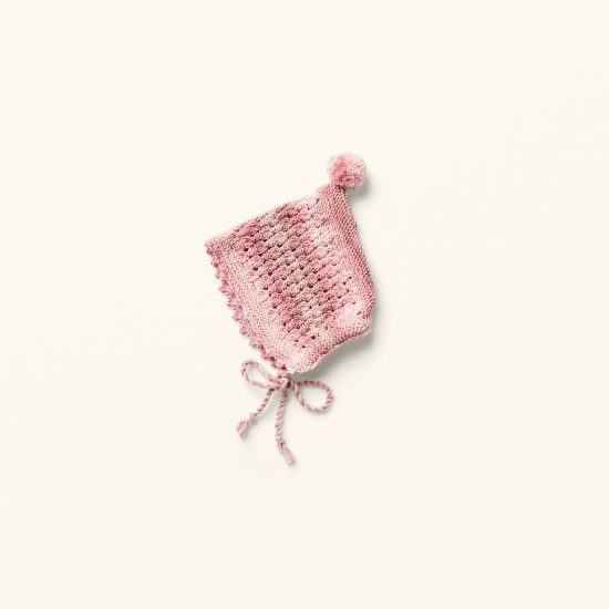 baby knit bonnet et MARTHA, organic cotton, hand made in Austria, VAN BEREN