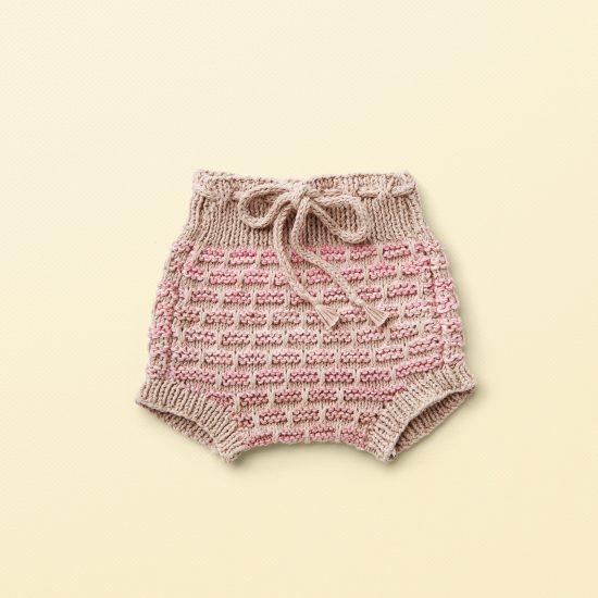 baby knit bloomers SUSI, organic cotton, hand made in Austria, VAN BEREN