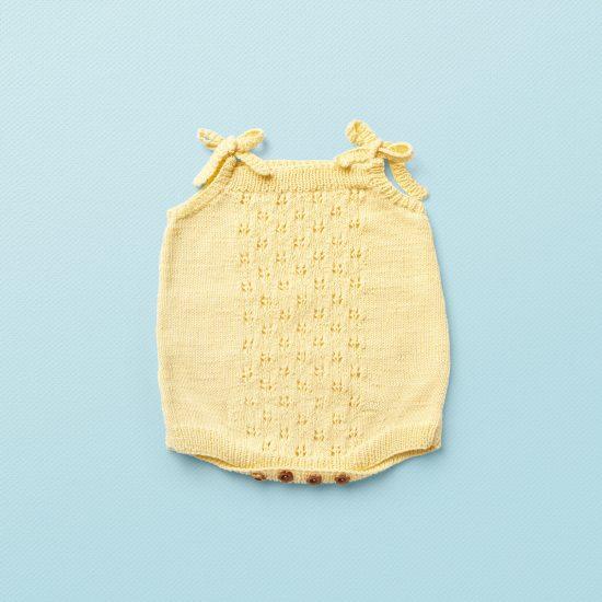 Vintage style inspired knit romper ANGEL, organic cotton, hand made in Austria, VAN BEREN