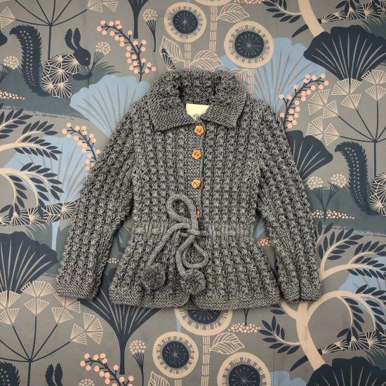 Vintage style inspired Van Beren baby knit cardigan VIVIEN, handmade in Austria, merino wool, eco consciouis clothes, baby present, baby shower, baby belly party, hand knitted, fairfashion, heirloom, VAN BEREN
